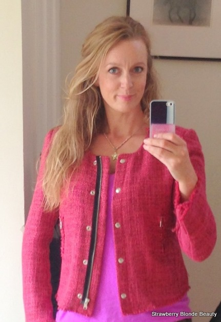 In the Pink: Benetton Boucle Jacket | Strawberry Blonde